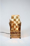 Table Top Lamps-Shell & Coconut Stalk