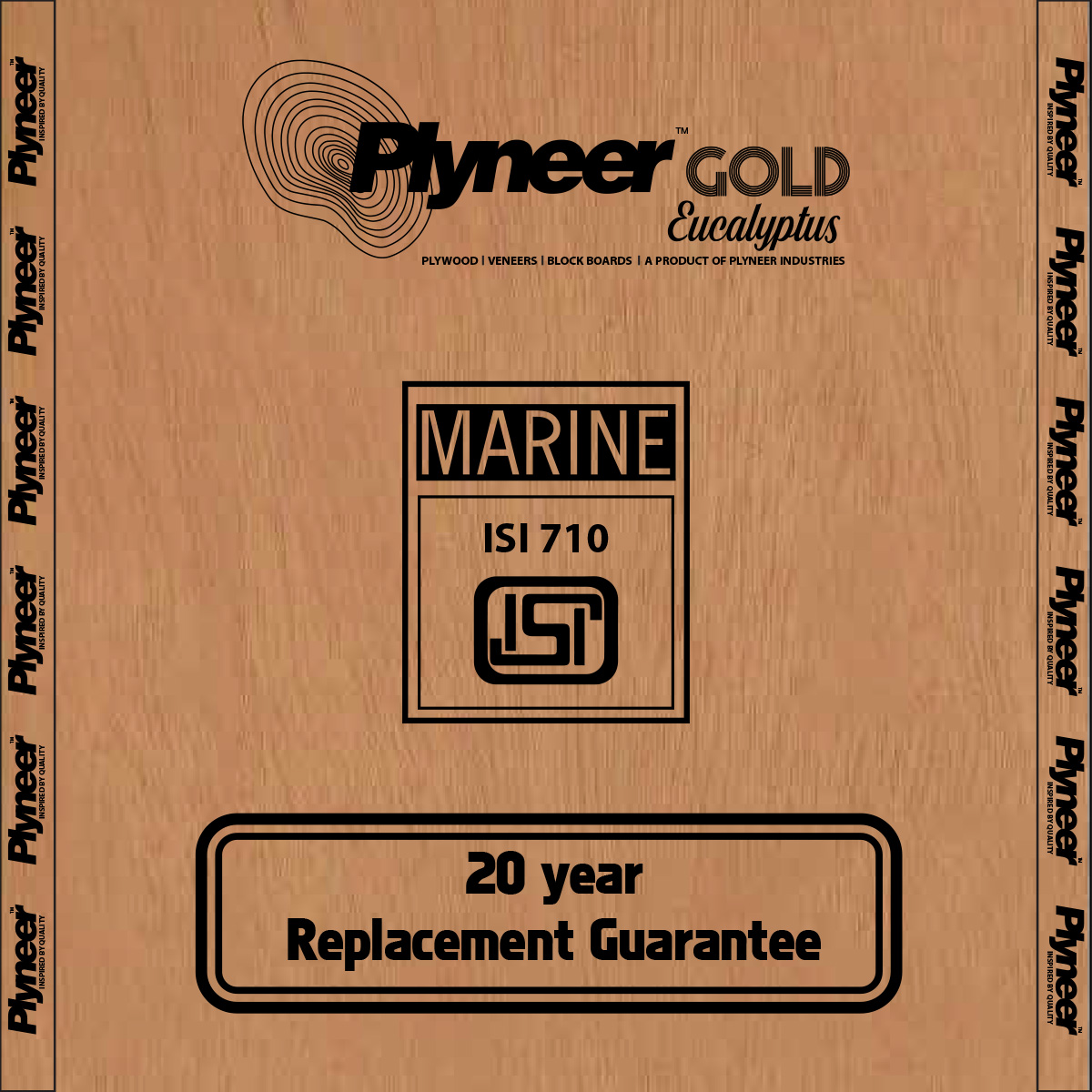 Plyneer Gold B.W.P Eucalyptus Waterproof Plywood - 20 Years Replacement Guarantee*