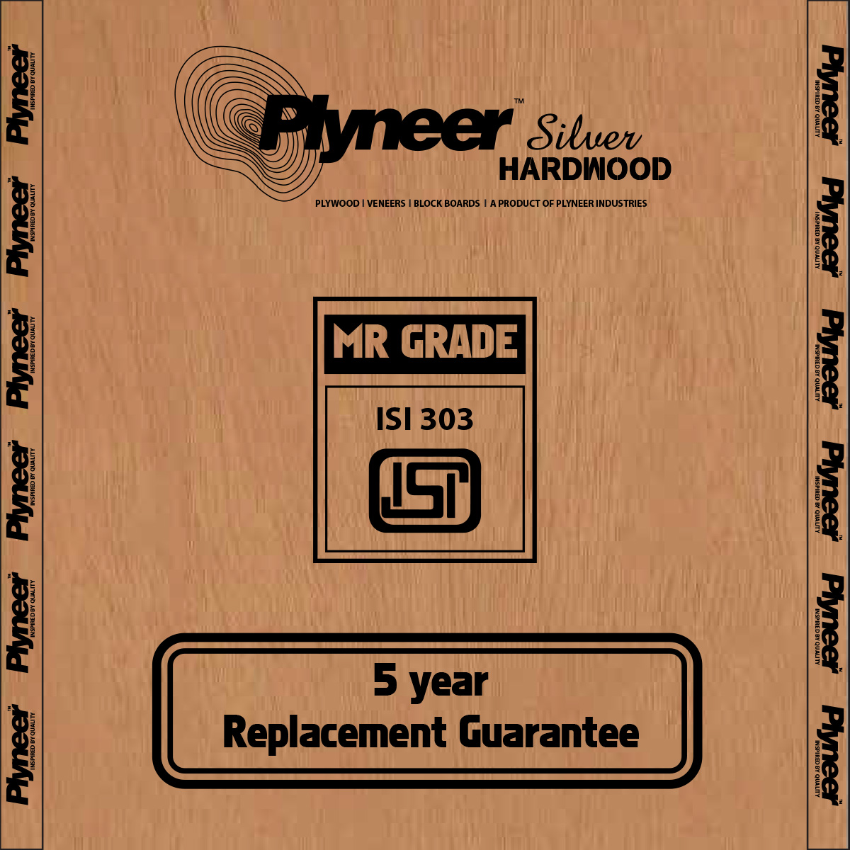 Plyneer Silver B.W.R. Hardwood Water Resistant Block Board - 5 Years Replacement Guarantee*