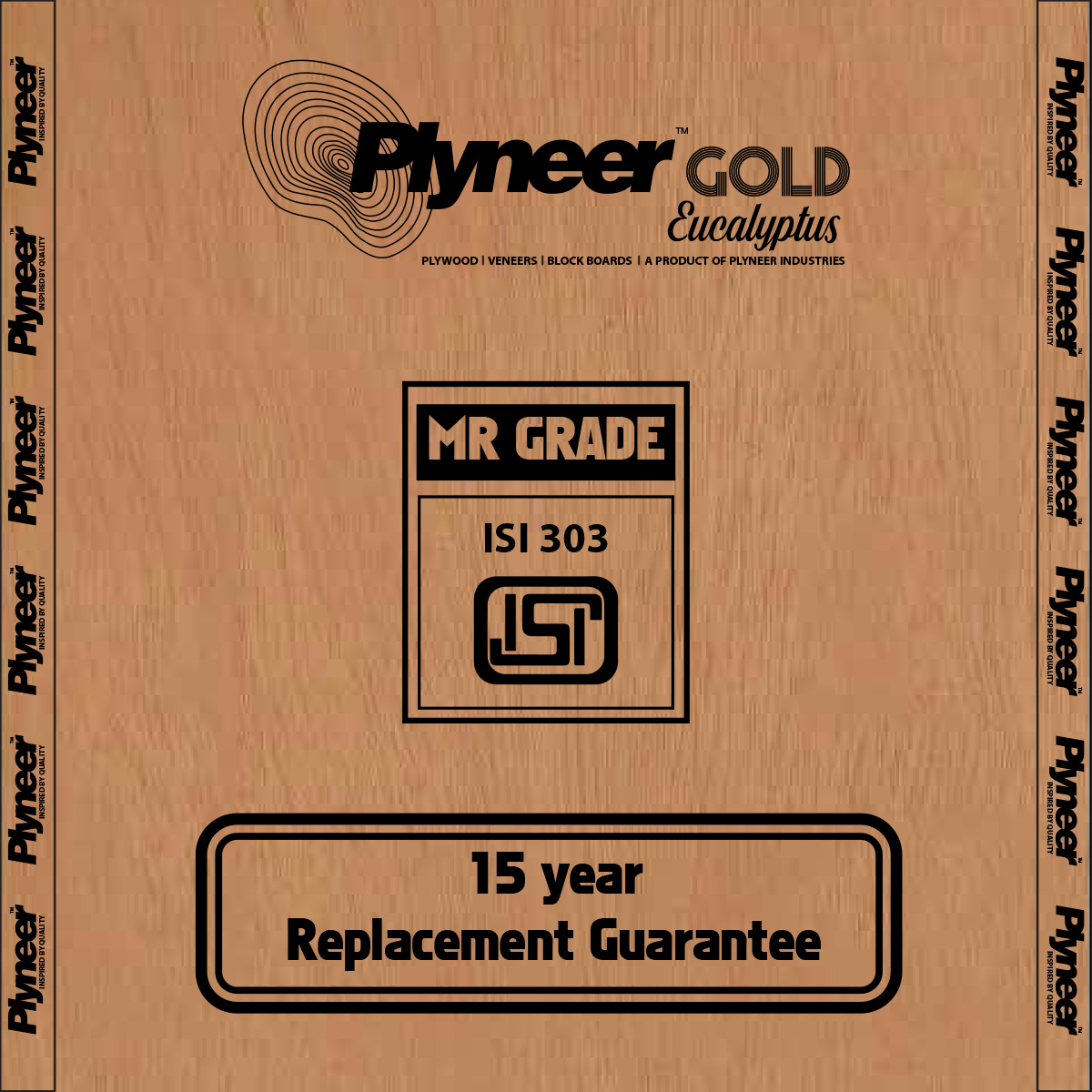 Plyneer Gold M.R. Pinewood Commercial Block Board *